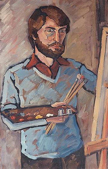 esteve-prat-paz-dibuixant-carbonet-pintor-oli-acrilic-bibliogradia-exposicions-critica-01-1979-autorretrat-oli-sobre-tela