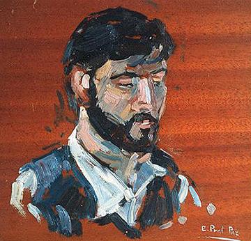 esteve-prat-paz-dibuixant-carbonet-pintor-oli-acrilic-bibliogradia-exposicions-critica-02-1979-retrat-f.bordas-oli-sobre-fusta