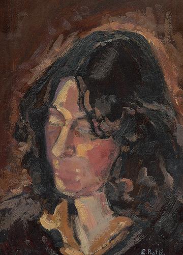 esteve-prat-paz-dibuixant-carbonet-pintor-oli-acrilic-bibliogradia-exposicions-critica-04-1980-retrat-r.s.-oli-sobre-cartro-33x23-cm