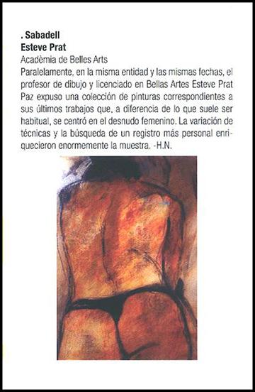 esteve-prat-paz-dibuixant-carbonet-pintor-oli-acrilic-bibliogradia-exposicions-critica-2005-revistart