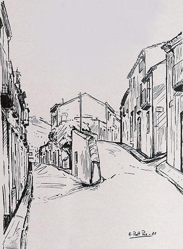 esteve-prat-paz-dibuixant-carbonet-pintor-oli-acrilic-bibliogradia-exposicions-critica-23-1982-canya-i-tinta-sobre-paper