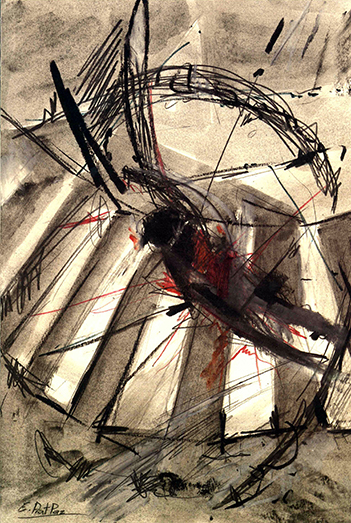 esteve-prat-paz-dibuixant-carbonet-pintor-oli-acrilic-bibliogradia-exposicions-critica-25-1995-tecnica-mixta-sobre-paper