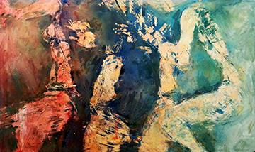 esteve-prat-paz-dibuixant-carbonet-pintor-oli-acrilic-bibliogradia-exposicions-critica-44-2017-Tecnica-mixta-sobre-cartro-152x92cm
