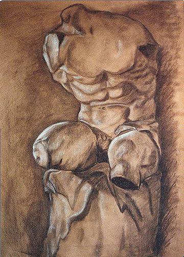 esteve-prat-paz-dibuixant-carbonet-pintor-oli-acrilic-bibliogradia-exposicions-critica-01-1980-carbonet-i-creta-sobre-papaer-100x70-cm