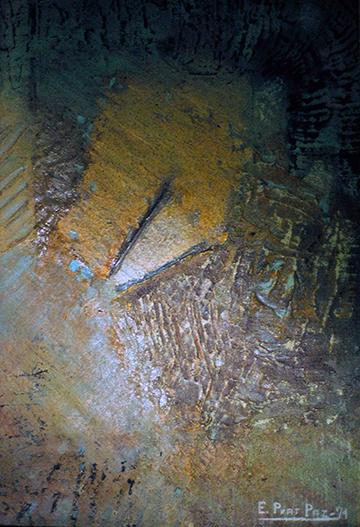 esteve-prat-paz-dibuixant-carbonet-pintor-oli-acrilic-bibliogradia-exposicions-critica-02-1979-acrilic-i-pols-de-marbre-sobre-tela